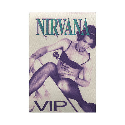 Nirvana Authentic 1993 In Utero Tour satin cloth Backstage Pass VIP