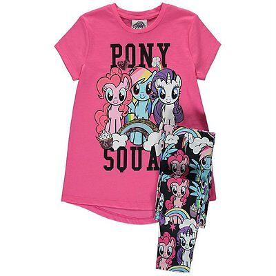 George Girls Official Licensed My Little Pony T Shirt & Leggings Outfit Set