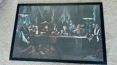 Large Mafia Framed Picture / Poster - Godfather, Scarface, Goodfellas, Sopranos