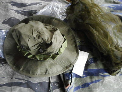 genuine issue 1969 dated VIETNAM WAR OG 107 green BOONIE JUNGLE HAT new m 7 1/4