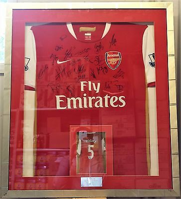 HandSigned by 21 Players Framed Match-Day Kolo Toure Arsenal 2006-07 Shirt Rare