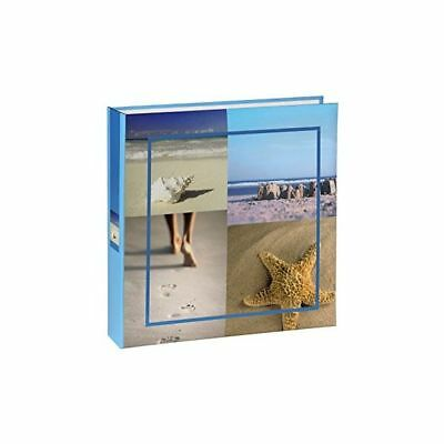 Large Sea Shells Slip In Beach Holiday Photo Album Case Book Blue 100 6x4 ''
