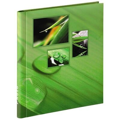 Large Self Adhesive Green Leaf Grass Photo Album Case Book 20 Pages 6x4'' Photos