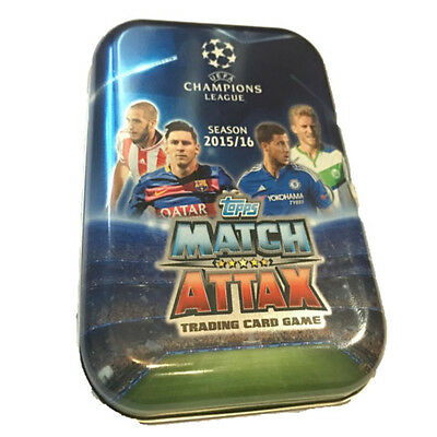 UEFA Champions League 2015/16 Topps Match Attax Card Collectors Pocket Tin UCL