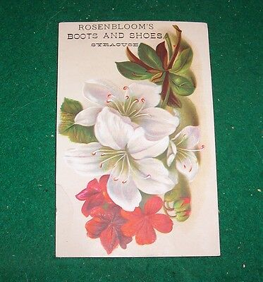 TRADE CARD -  ROSENBLOOM'S -  Boots and Shoes  -   Syracuse, N. Y.