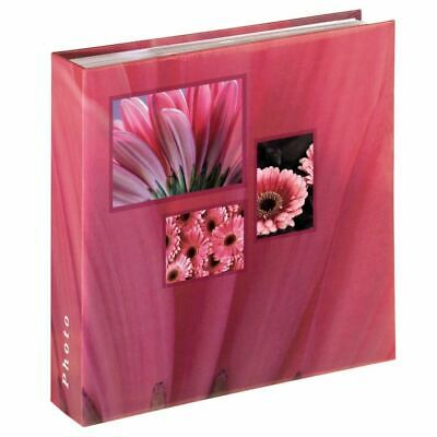 "Large Slip In Pink Flower Photo Memo Album Case Book 100 Pages 6x4""  Photos"