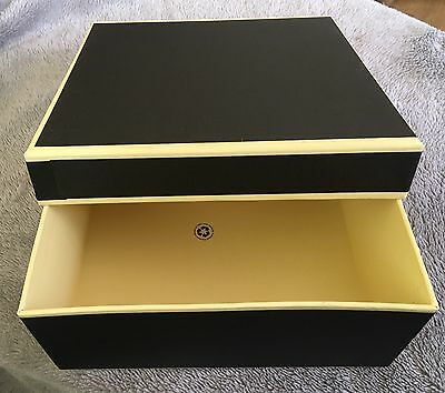 Luxury Gift Box/keepsake Box Large - Black & Cream