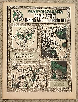 Marvelmania Comic Artist Inking and Coloring kit 1969 MMMS