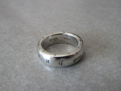 "Thomas Sabo sterling silver ring with message ""you can get it if you really want"