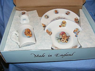 Pendelfin Pottery Breakfast Set Blue Boxed England
