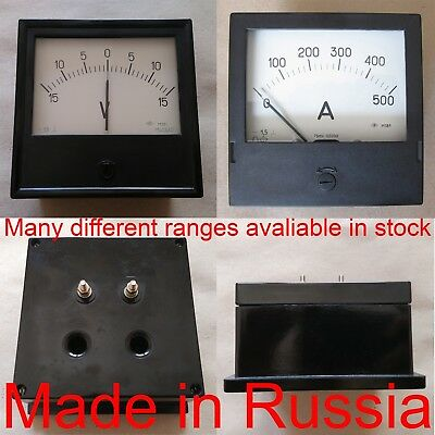 1.5 Accuracy DC Ammeter Analog Amp Panel Meter M381 Gauge 120*120mm Any Range