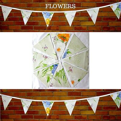 Flowers Bunting / Garland - Pvc / Oilcloth - 3 Metres