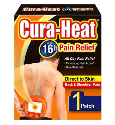 Cura-Heat Back Pain Relief Heat Patches - Direct to Skin