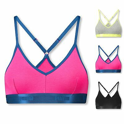 PUMA High-Shine Band Bralette Bustier Triangle Fitness Sport BH S M L Farbwahl
