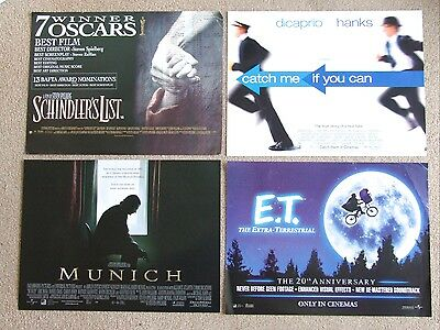 Set of 4 Steven Spielberg mini posters. Schindlers List, E.T.