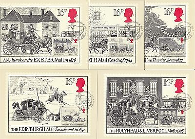 The Royal Mail 1984 Great Britain 5 PHQ Cards (Stamps on Front)