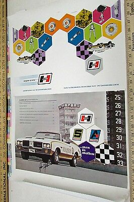 Original Art Proof 1971 Hurst Performance Annual Report Olds Indy 500 Pace Car
