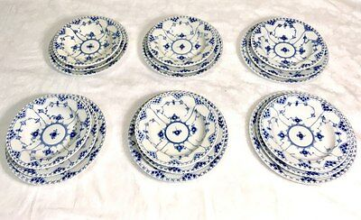 Royal Copenhagen Blue Fluted Full Lace Table Service for 6 ( 18 pcs.) NEW IN BOX