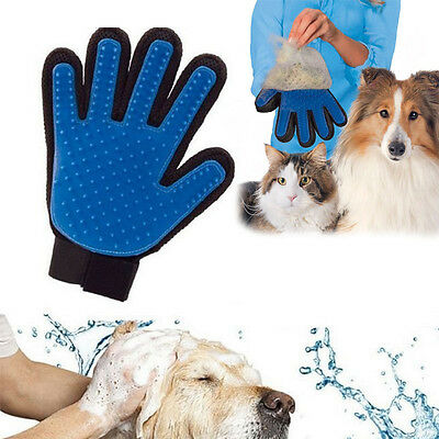 True Touch Deshedding Glove Pet Dog Cat Animal Grooming  UK SELLER