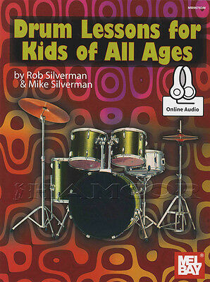 Drum Lessons for Kids of All Ages Music Book with Audio Learn To Play Method