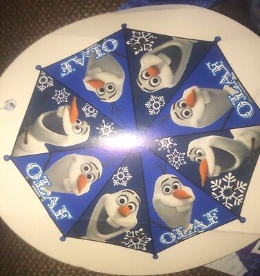Disney Frozen Olaf Umbrella Boys Toddler Kids  New Blue