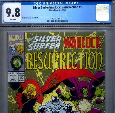 PRIMO:  SILVER SURFER WARLOCK Resurrection #1 NM/MT 9.8 CGC Highest Marvel comic