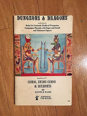 Gods, Demi-Gods & Heroes Supplement IV Original Dungeons & Dragons TSR 1979 7th