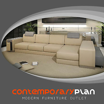 ULTRA MODERN ITALIAN Leather Sectional Sofa Contemporary ...