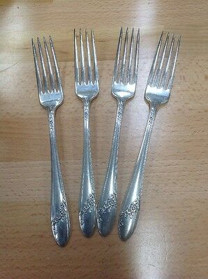 Lot Of 4 Tudor Plate Queen Bess Dinner Forks Oneida Community