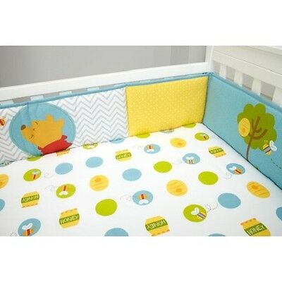 Disney Baby Pooh's Play Day Secure-Me 4 Pc. Crib Bumper Winnie The Pooh