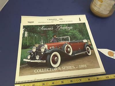 SEASON'S GREETINGS 1993 complete CAR calendar FREE SHIP + FREE lucky PENNY !!