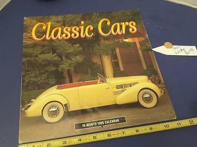 CLASSIC CARS 1996 complete CAR calendar FREE SHIP + FREE lucky PENNY !!