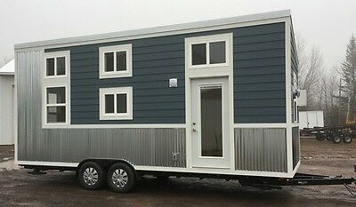 Tiny House Cabin on wheels movable certified with loft for your property
