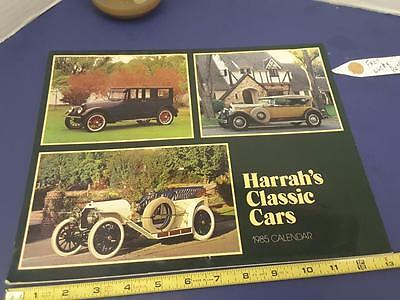 HARRAH'S CLASSIC CARS 1985 Complete  calendar FREE SHIP + FREE lucky PENNY !!