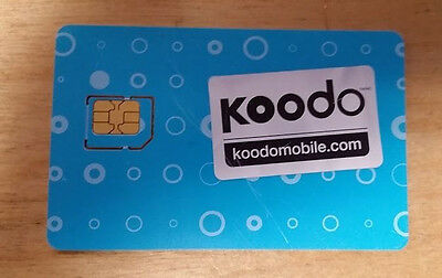 New Koodo Micro Sim Card 3G 4G LTE postpaid Ready to Activate !!FREE SHIPPING!!!