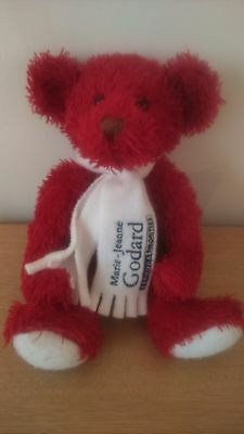 Rare Peluche Ours Rouge Russ Marie Jeanne Godard Sephora 25 Cm