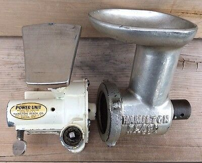 Vintage Hamilton Beach Model 4 Meat Grinder & No. 2 Power Unit