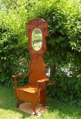 Antique Oak Halltree With Seat