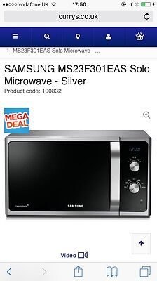 Samsung MS23F301EAS | 23 Litre 800W Solo Free Standing Microwave Oven - Silver