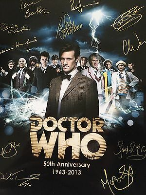 Doctor Who Signed Poster