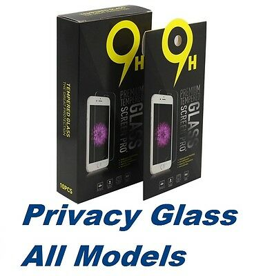 Lot of 10 Privacy Tempered Glass Screen Protector For Apple iPhone & Samsung
