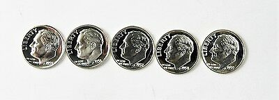 5 Year Run Of Proof Roosevelt Dimes - 1955,1956,1957,1958,1959 !! FREE SHIPPING