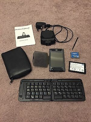 HP iPAQ Handheld PDA - HX4705 Collectable Vintage / Retro Computer & Keyboard