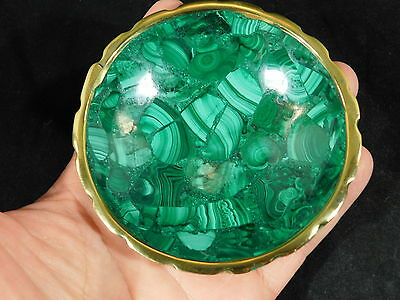 A Small Deep Green! Malachite Bowl With a Super Neat Pattern! The Congo 146gr e