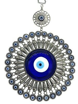 Blue Evil Eye Wall Car Hanging Amulet Oranament with a Sword for protection