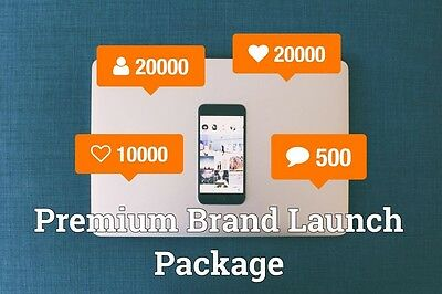 20k/20k/10k/500 Premium Brand Launch Package FOLLOWS/LIKES/XTRA:- Fast 100% Safe