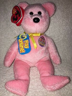 Ty Beanie Baby BB 2.0 ~ EGGS 2008 the Easter Bear ~ MWMT'S ~ Stuffed Animal Toy