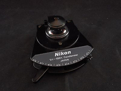 NIKON C-C 0.8/0.12 NA Achromat Swing-Out 1~100x Condenser Upright Microscopes