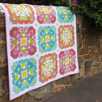 Blossom Love - pieced quilt PATTERN - Lilabelle Lane Creations