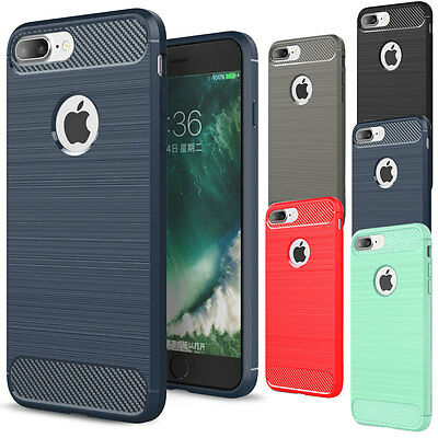 Luxury Shockproof Rubber Soft TPU Phone Case Cover For iPhone 6 6s 7 8 Plus X